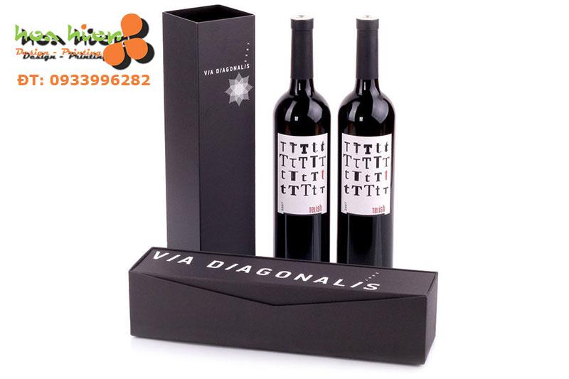 In hộp giấy đựng rượu chất lượng cao