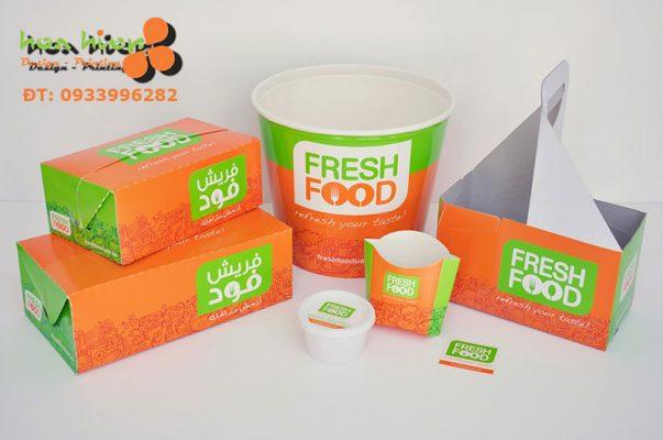 In hộp giấy đựng thực phẩm thức ăn ở TPHCM
