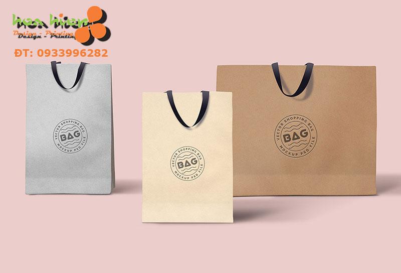 In túi giấy cho shop đựng quần áo ở TPHCM