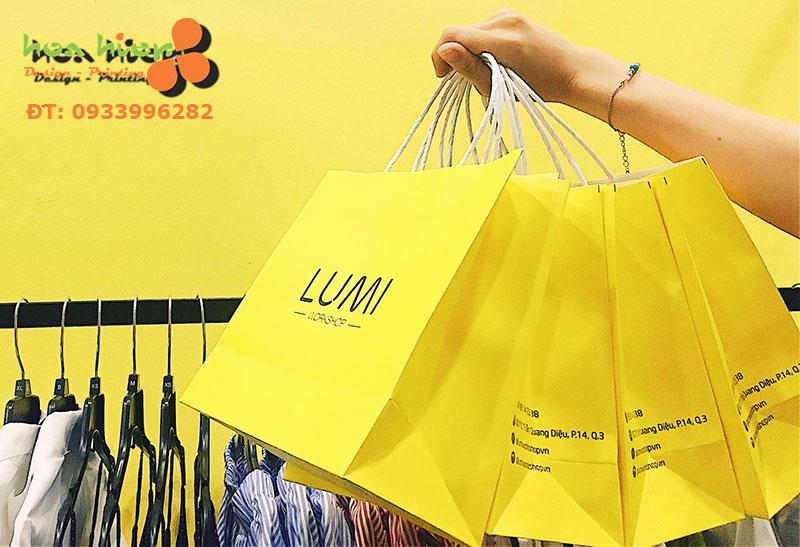 In túi giấy cho shop thời trang ở TPHCM
