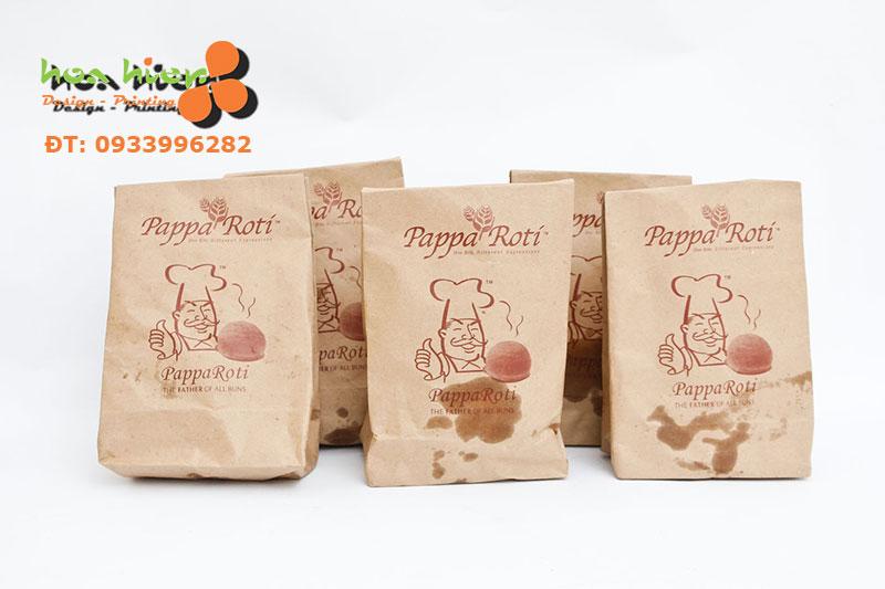 In túi giấy đựng thực phẩm (thức ăn) giá rẻ ở TPHCM