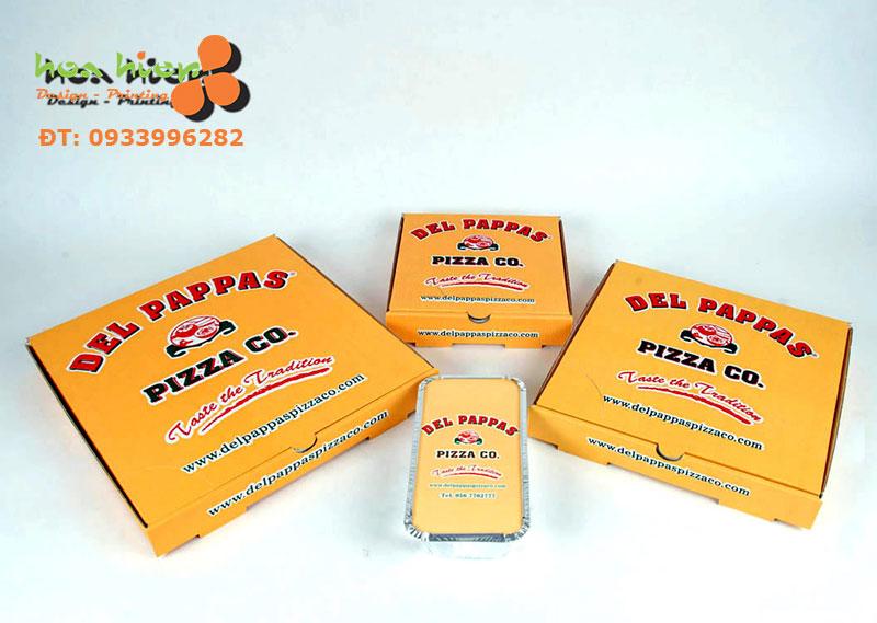 In hộp giấy đựng bánh Pizza