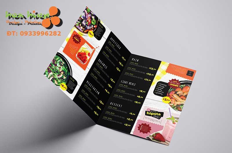 Dịch vụ in menu brochure