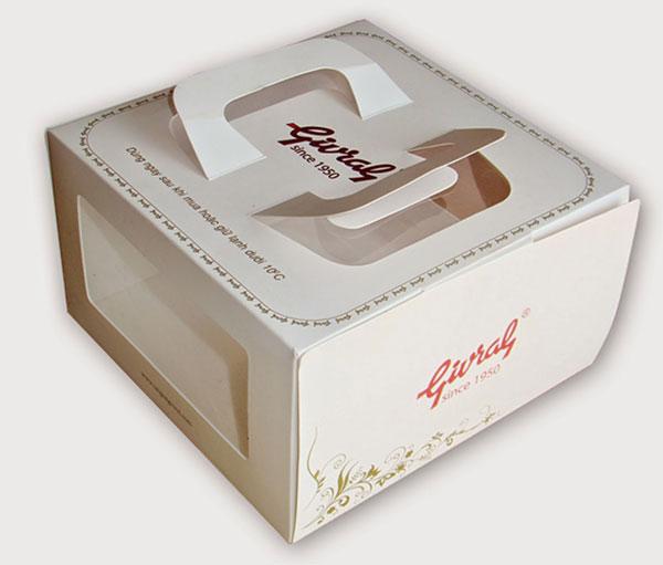 In hộp đựng bánh kem đẹp