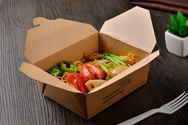 In hộp giấy túi giấy đựng thức ăn nhanh