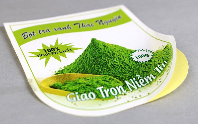 In tem nhãn trà xanh