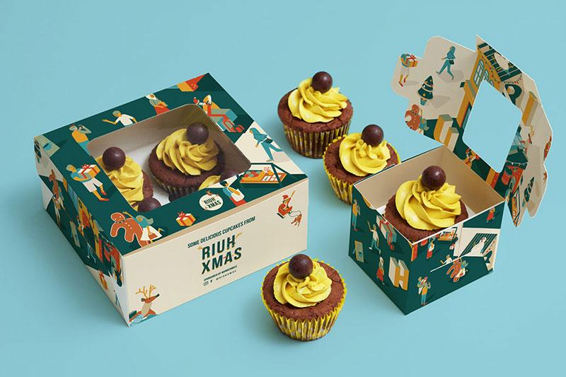 Làm hộp bánh cupcake
