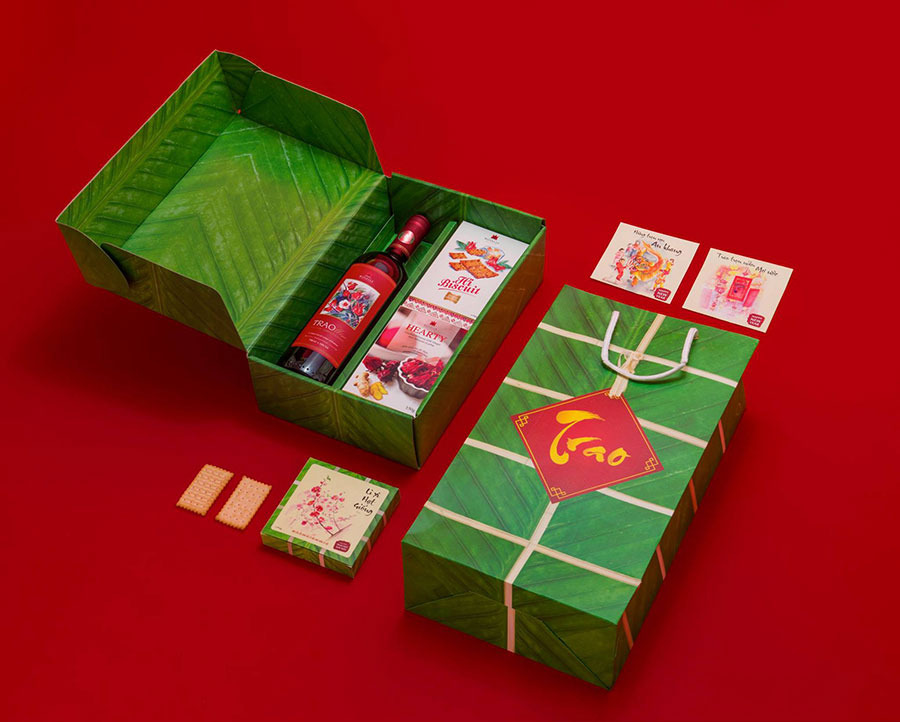Thiết kế hộp quà Tết đẹp