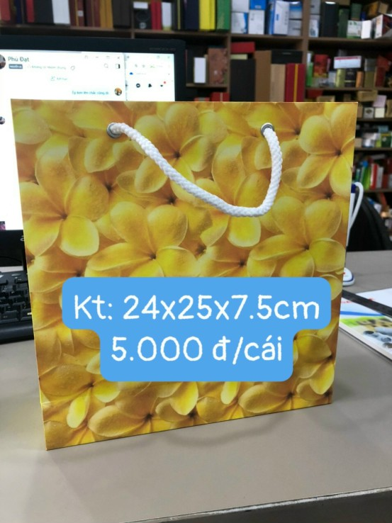 Túi giấy kích thước 24x25x7.5cm